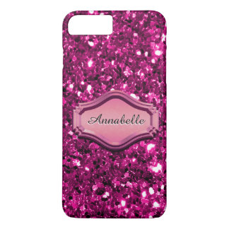 Glamourous Simulated Pink Sparkly Glitter Case