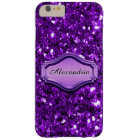 Glamourous Simulated Purple Sparkly Glitter Case