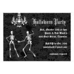 Glamourous Skeletons Halloween Invitation