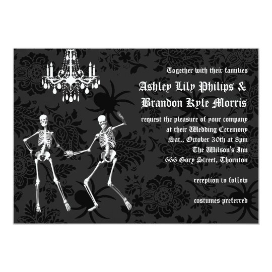 Glamourous Skeletons Wedding Invitation