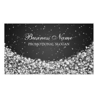Glamourous Star Sparkle Black Pack Of Standard Business Cards