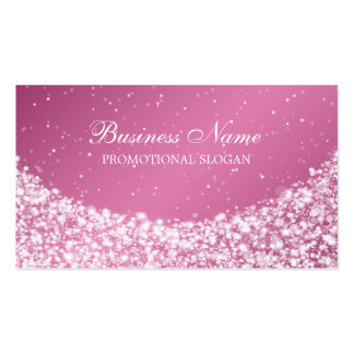 Glamourous Star Sparkle Pink Pack Of Standard Business Cards