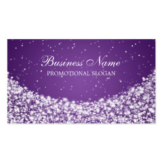 Glamourous Star Sparkle Purple Pack Of Standard Business Cards