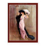 Glamourous Vintage Edwardian Woman   in Pink Gown