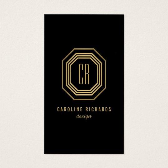 Glamourous Vintage Gold Art Deco Initials Monogram Business