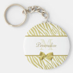 Glamourous White and Gold Zebra Print With Name