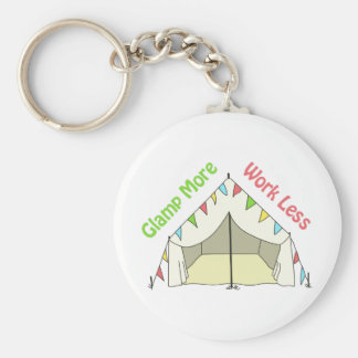 GLAMP MORE WORK LESS BASIC ROUND BUTTON KEY RING