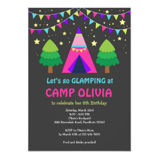 Glamping Birthday Invitation / Glamping Invitation