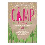 Glamping Birthday Party Invitation 13 Cm X 18 Cm Invitation Card
