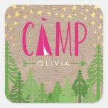 Glamping Personalised Sticker