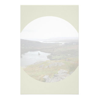 Glanmore Lake from Healy Pass Ireland. Round. Custom Stationery