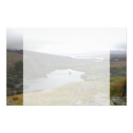Glanmore Lake from Healy Pass Ireland. Stationery