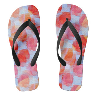Glare from design texture background flip flops
