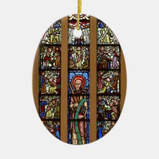 Glas-mosaik church christmas ornament