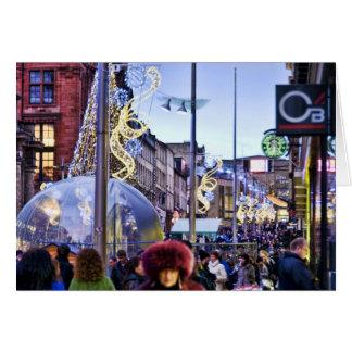 Glasgow at Christmas Greeting Card