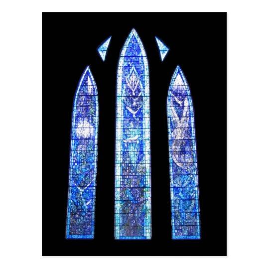 Glasgow cathedral church window postcard