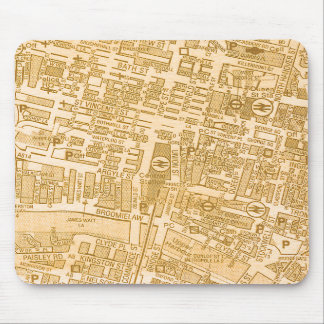 Glasgow City Map Mousepad