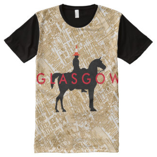 Glasgow Duke of Wellington Traffic Cone Statue All-Over Print T-Shirt