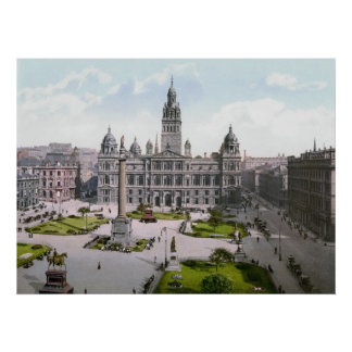 Glasgow George Square Poster