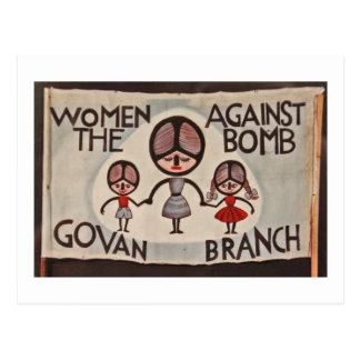 Glasgow Govan Women Against the Bomb Postcard