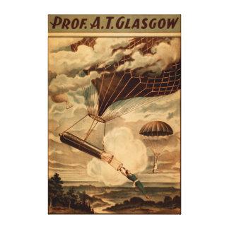 Glasgow Hot Air Balloon Circus Theatre Poster Canvas Print