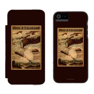 Glasgow Hot Air Balloon Circus Theatre Poster Incipio Watson™ iPhone 5 Wallet Case