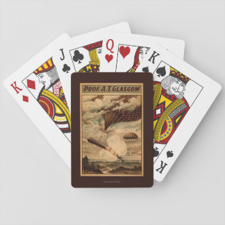 Glasgow Hot Air Balloon Circus Theatre Poster Playing Cards