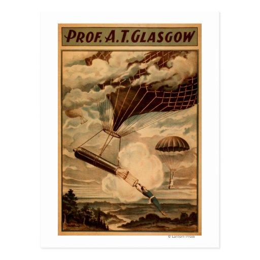 Glasgow Hot Air Balloon Circus Theatre Poster Post Card