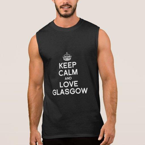 GLASGOW KEEP CALM - -.png Sleeveless Tees
