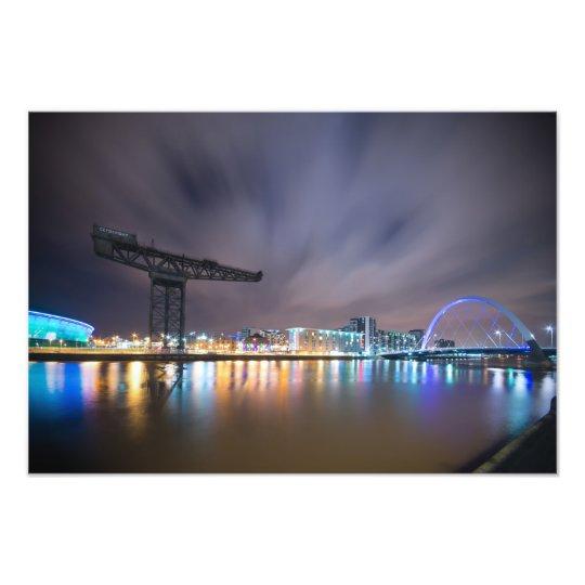 Glasgow Night Sky Long Exposure Photo Print