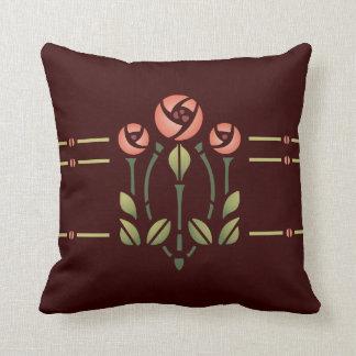 Glasgow Rose Stencil- Choose your background! Cushion