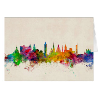 Glasgow Scotland Skyline Card