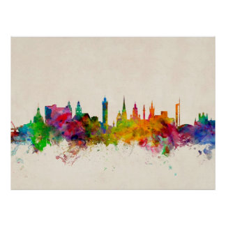 Glasgow Scotland Skyline Poster