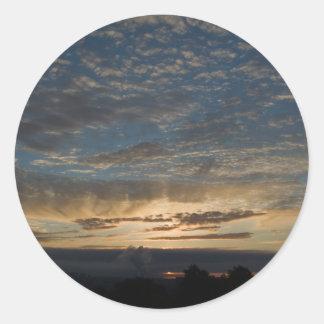 Glasgow Sunrise Classic Round Sticker