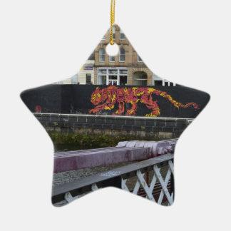 glasgow tiger ceramic star decoration