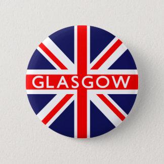 Glasgow UK Flag 6 Cm Round Badge