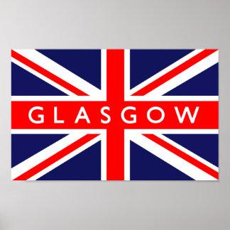 Glasgow UK Flag Poster