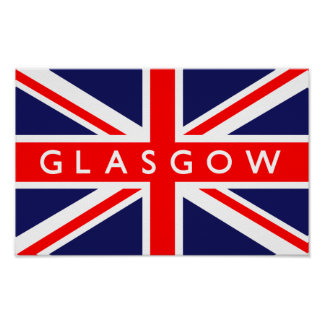 Glasgow UK Flag Posters