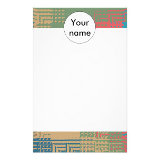 Glass abstract design stationery paper