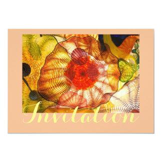 Glass Abstract In Multi Colors 13 Cm X 18 Cm Invitation Card