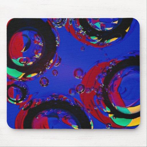 Glass air bubbles mousepad