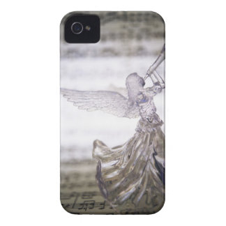 Glass angel playing trumpet and image of sheet iPhone 4 Case-Mate case