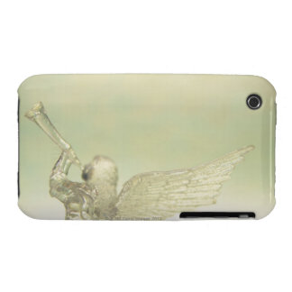 Glass angel playing trumpet, rear view iPhone 3 covers