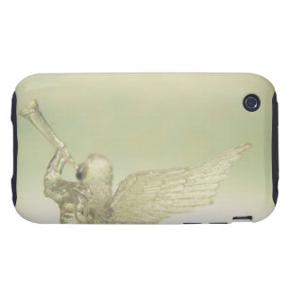 Glass angel playing trumpet, rear view tough iPhone 3 covers
