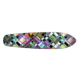 Glass Art Funky Mosaic Pattern Skateboards