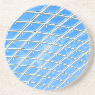 Glass background coaster