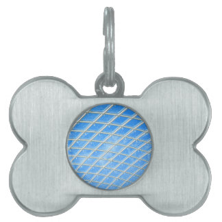 Glass background pet ID tags
