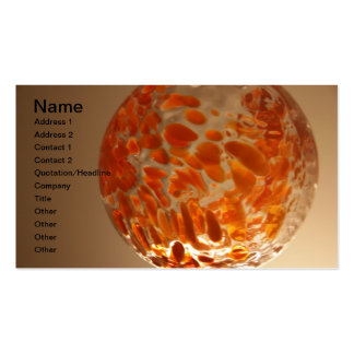 Glass Ball Pack Of Standard Business Cards