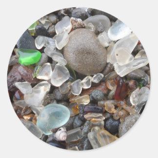 Glass Beach- Fort Bragg, CA Round Sticker