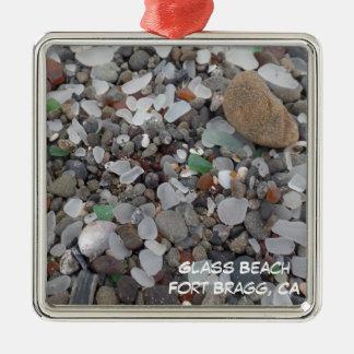 Glass Beach Fort Bragg California Xmas Ornament